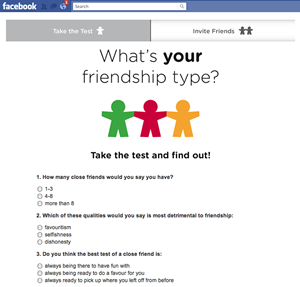Friendship Quiz Facebook App